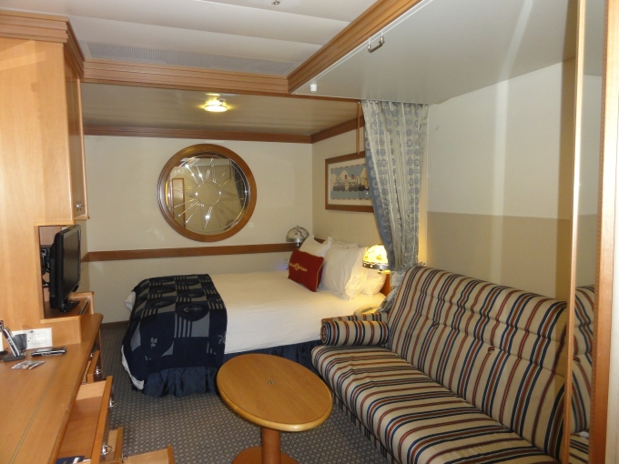 Even the interior cabins look comfortable and we love the curtain to allow for privacy!
