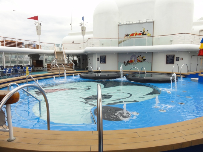 The kids pool.  Amazing attention to details.  There is even a slide held up by Mickey Mouse's hand!